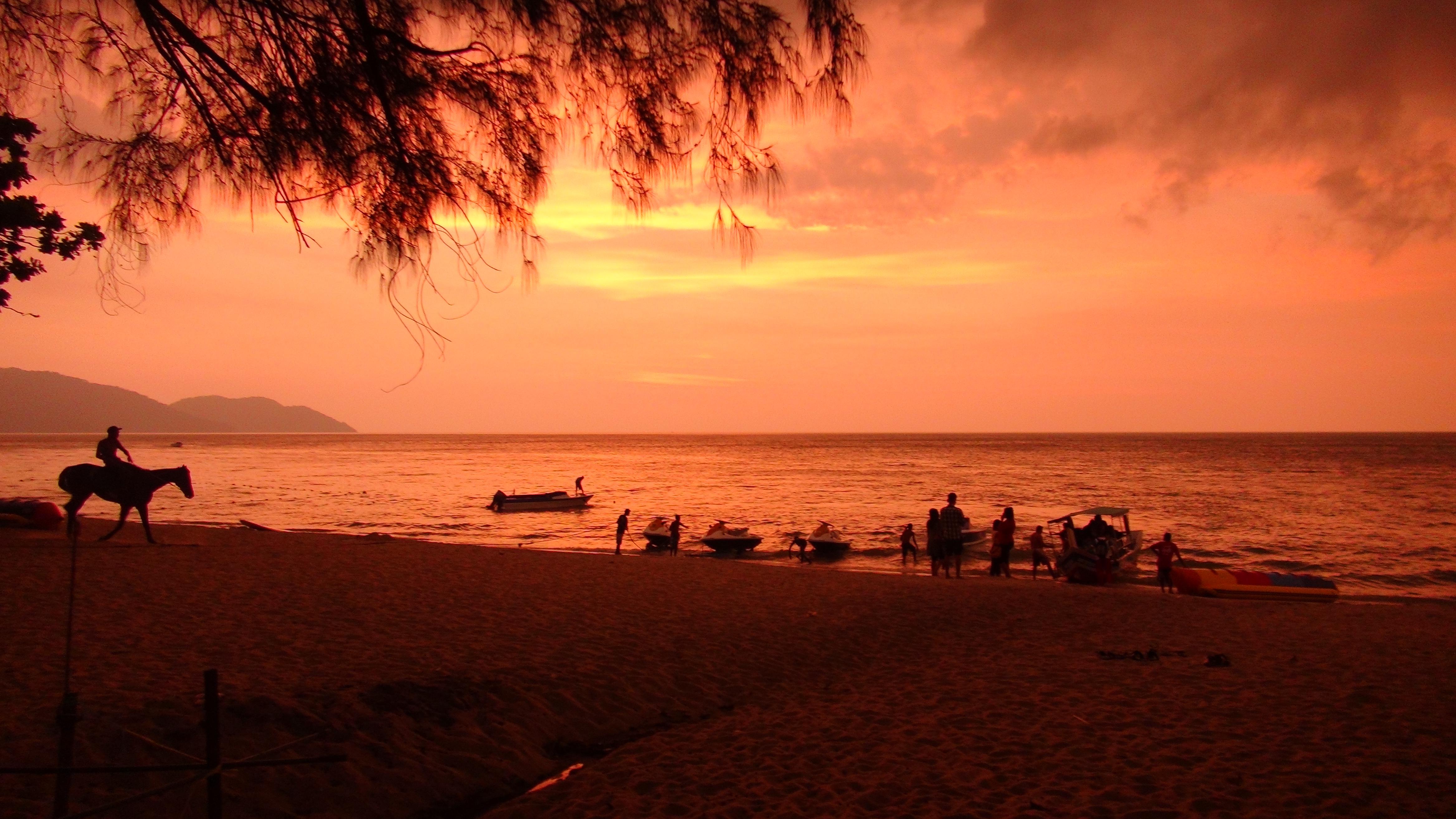 マレーシア・ペナン島の夕日